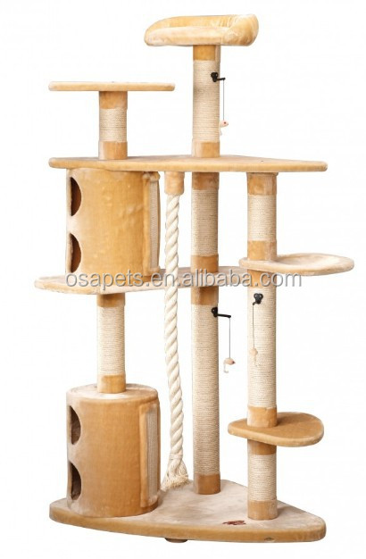 180cm high Large cat tree furniture with cat condos and sisal ropes