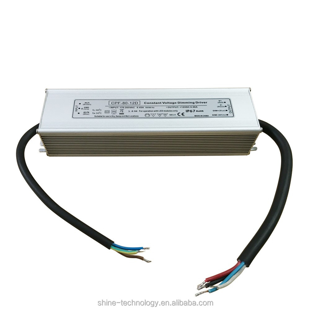 MeanWell 30w 45w 60w 80w 12V 24V dc Constant Voltage Dimmable LED Driver 0-10V/PWM/DALI Dimming LED Strip Light Power Supply MW