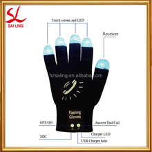 Hi Call Bluetooth Gloves Handsfree Mobile Magic Phone Gloves Led Flashing