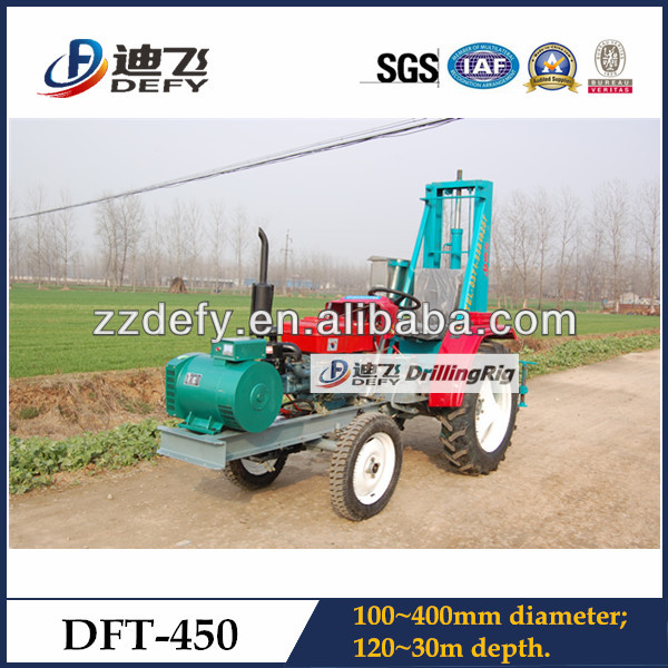 hydraulic vibration tractor portable hole digging machine