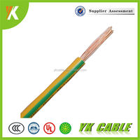 House wire electrical single core 4mm2 yellow and green wire