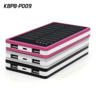 Dual USB Portable Mobile Power Bank 10000mah Solar Battery Charger