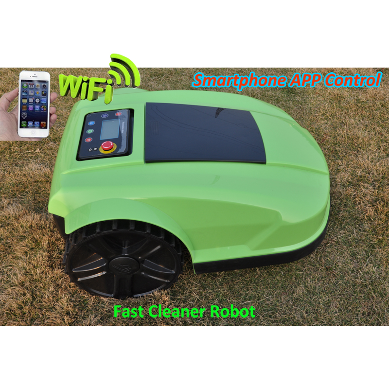 Newest 4th Generation Robot Grass Cutter /flail mower with NEWEST SMARTPHONE Wireless WIFI