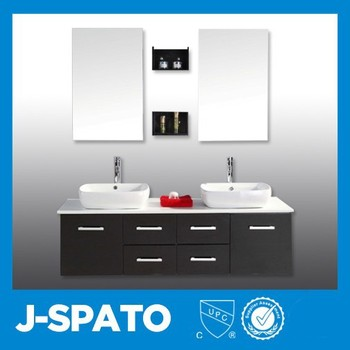 European Popular Black Ceramic Bathroom Vanity