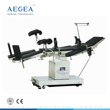 Clinical use multifunction black hospital theatre electric operation table