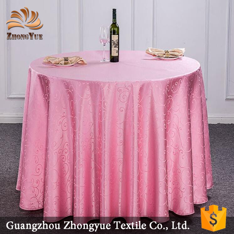 100%Polyester jacquard woven tablecloth for party