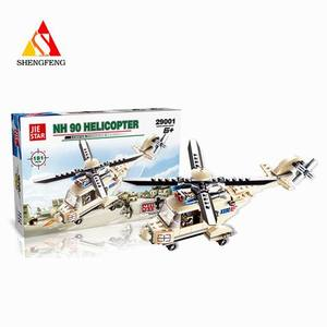 3D plastic educational model police helicopter toy games