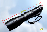 LH-218 1000 Lumen Long Range XML-T6 Super Bright LED police security flashlight