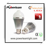 high power E27 led infrared sensor bulb light 3w 5w 7w 9w CE&RoHs approved
