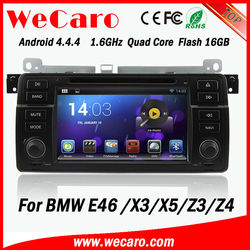 Quad Core Android 4.4.1 Capacitive Screen 1024*600 Android Navigation 2 Din Car Radio For Bmw e46 x3 x5 z3 z4