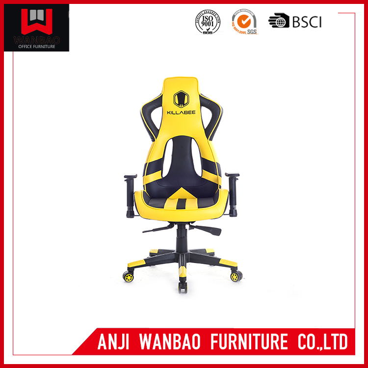 Yellow Pu Sport Seat Office Chair Furniture Cyber Cafe Gaming Chair