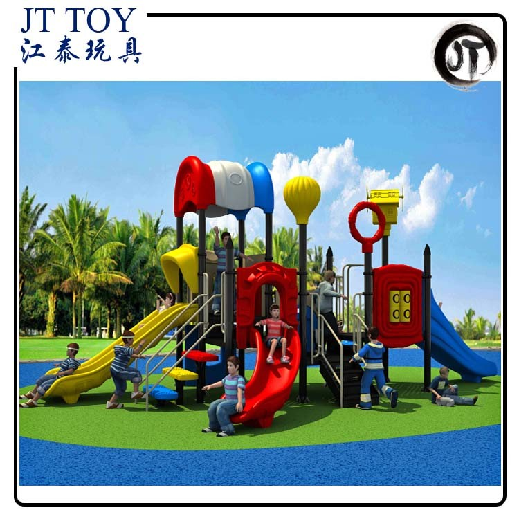 Greece style play ground toys for kids JT17-3702 Colorful children outdoor plastic playground equipment