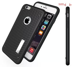 Special Design Mobile Phone Cases for Girls Mesh Dot Covers for Iphone 6S With Desk Stand