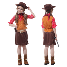 Halloween Super Cool Girl Cowboy Cosplay Costume For Masquerade Party