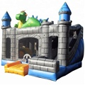 Popular green dragon bouncy castle/inflatable bouncer for sale