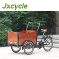 steel frame electric cargo bike pedal assistant children loading economic cargo bike