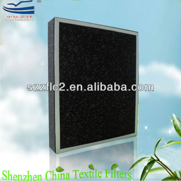 Plastic honeycomb activated carbon filter odor removal