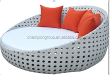 2014 hot sale outdoor rattan daybed with canopy
