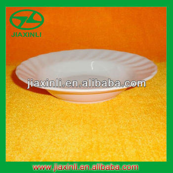 7'' Deep White Melamine Rice Plate With Wave