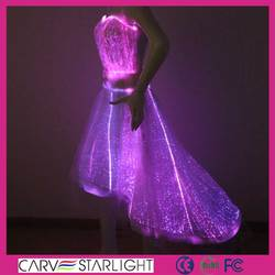 Hot sale optic fiber fabric fashion wedding dresses for women