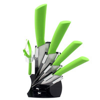 "High Quality Brand Paring Fruit Utility 3""4""5""6""inch+Peeler+Acrylic Holder Block Chef Royal Kitchen Utensil Ceramic Knife Set"