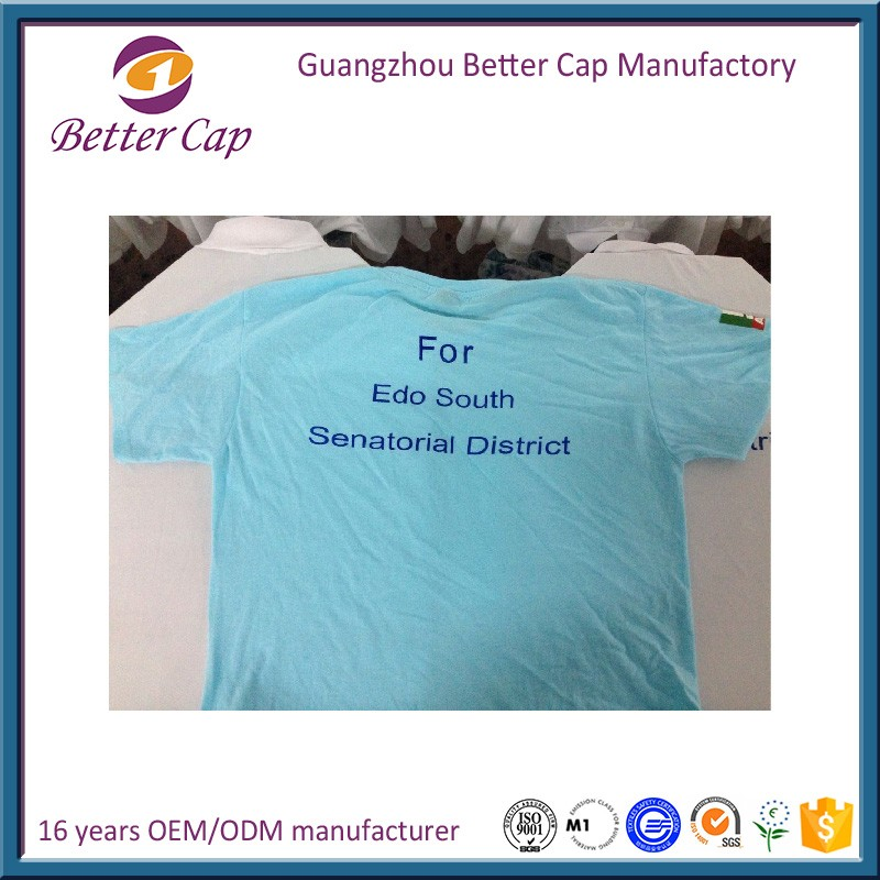 cheap price 100% polyester Nigeria election T-shirts
