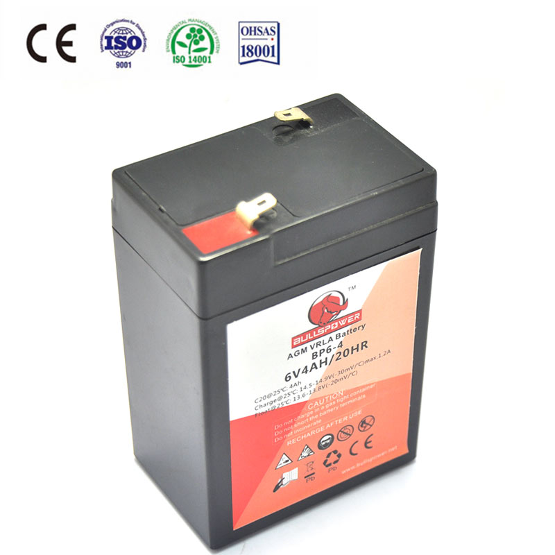 8v lead acid battery base battery price list 6v 4.5ah 20hr rechargeable battery BP6-4.5