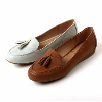 Lady's PU Leather Comfortable Loafers Women Casual Shoes Breathable Flats Good Quality