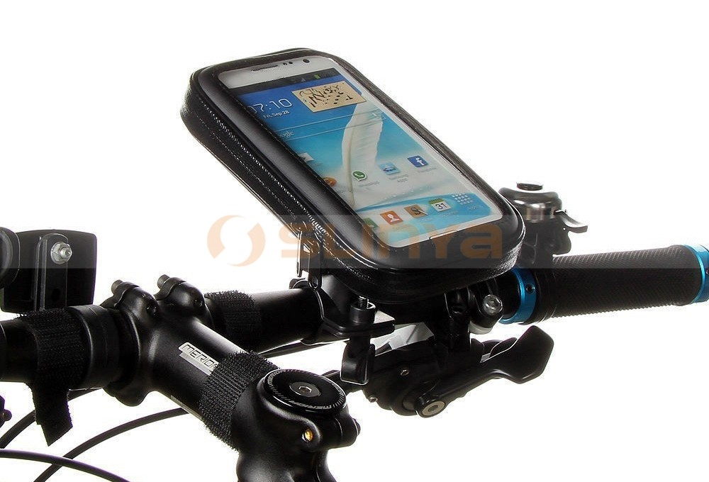 SM/L/XL Size Waterproof Phone Case Bag Pouch for Bike Bicycle Motorcycle with Holder