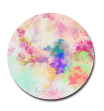 Watercolor Modern Circle Art Painting