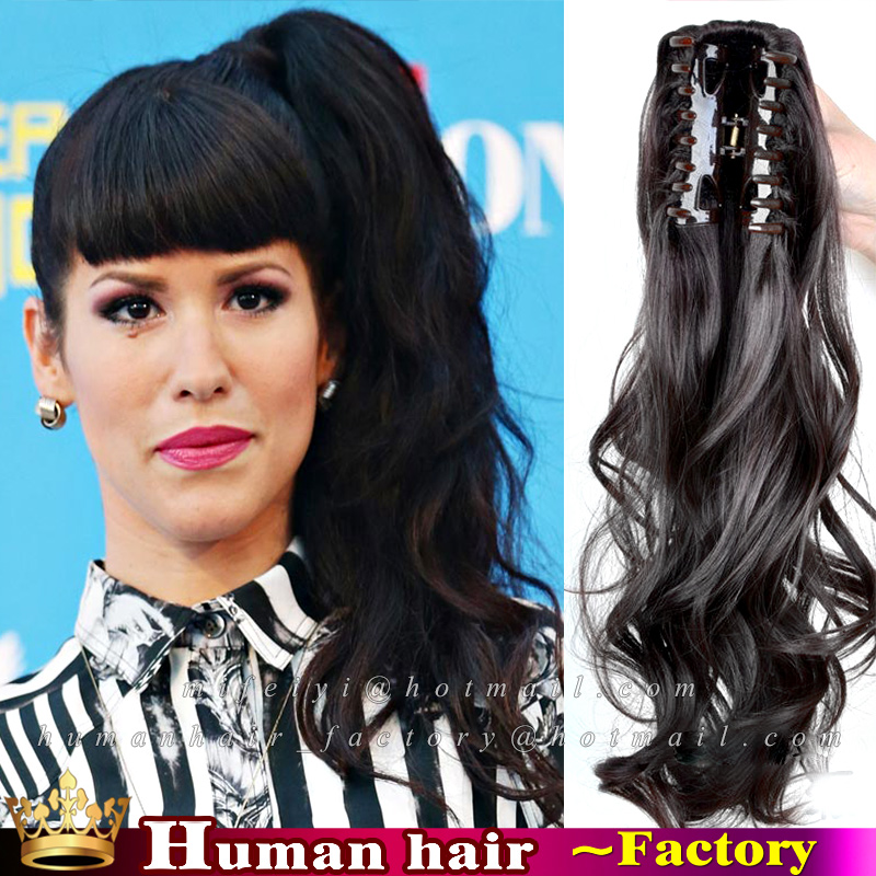 Wholesale curly hair ponytails online buy best curly hair 100 brazilian remy natural claw clip strongponytailstrong pmusecretfo Images