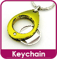 Quality Customized Metal Coin Shopping Cart Keychain