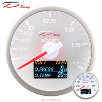 60mm 4 in 1 Boost Turbo Volt Oil Pressure Oil Temp digital White face Auto Depo Racing Gauge