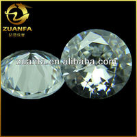 wuzhou high quality shining round cubic zirconia european machine cut