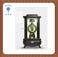 Wood Antique Mechanical Wooden Desktop Clock Table Clock