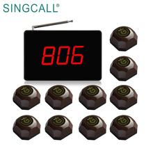 SINGCALL Small Display Receiver Wireless Calling System with Restaurant Pager