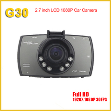 Mini car black box dvr camera full hd 1080p parking monitor driver recorder hd car dvr camera, dashcam 1080p night vision g30