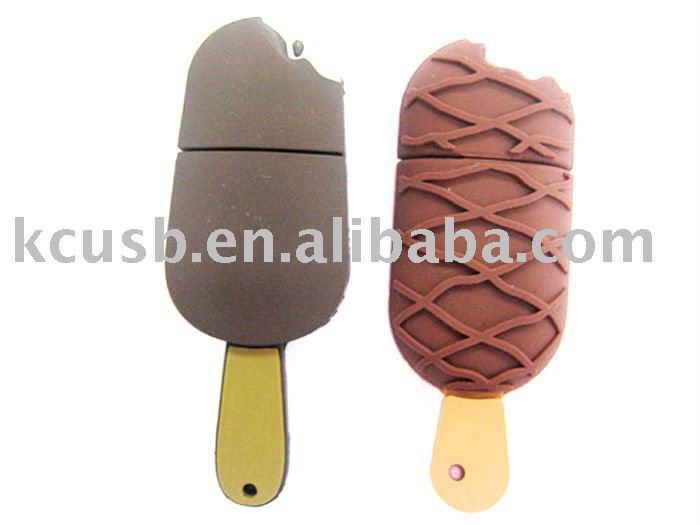 ice cream high speed Soft pvc usb for promotion