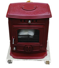 Extremely Exquisite Iron Casting Enamel Red Polished Stoves