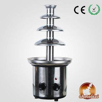CHOCOLAZI ANT-8045 Auger 4 tiers stainless steel Home low-noise chocolate fountain
