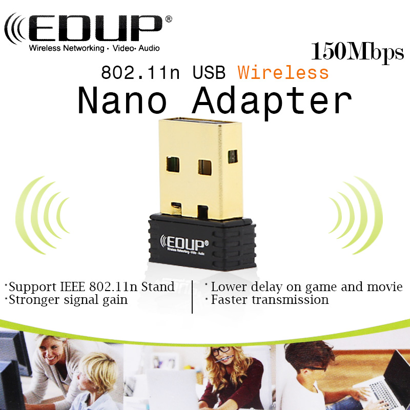 EDUP EP-N8553 150Mbps mini USB wifi wireless network adapter support soft AP function