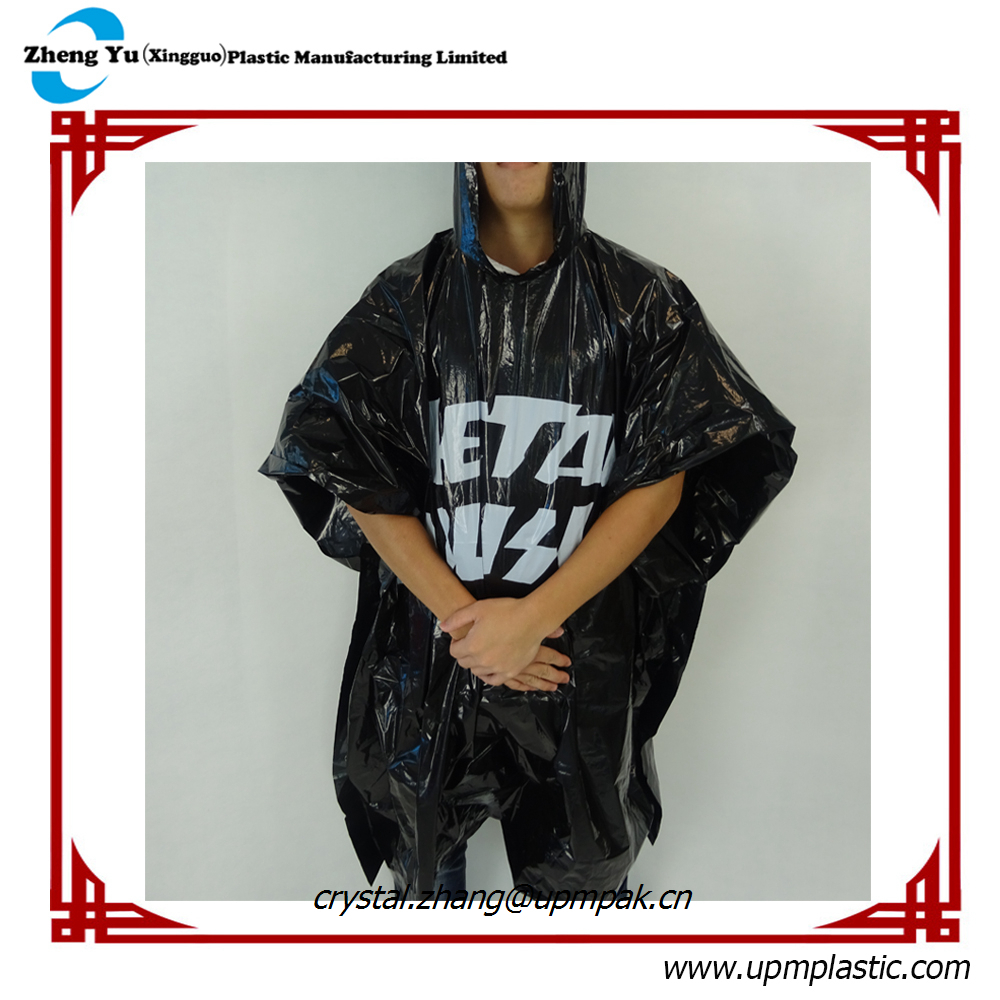 Disposable Custom Printed Rain Ponchos