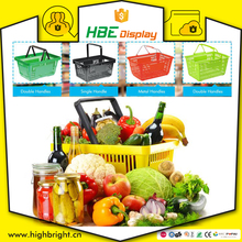 wholesale retail grocery supermarket plastic hand held storage shopping baskets for sale