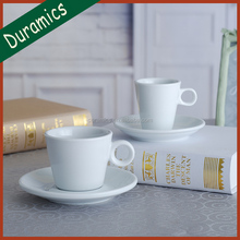 Hotel personalized porcelain tea/coffee cup and saucer for hot sale