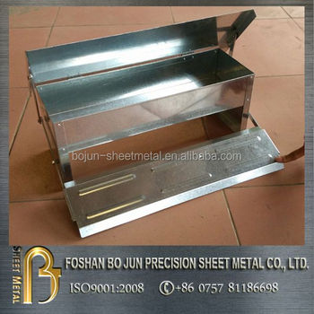 Customized hot sale large capacity rat proof aluminum feeder