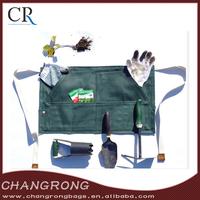 custom waxed canvas waist garden aprons with tool pockets wholesale