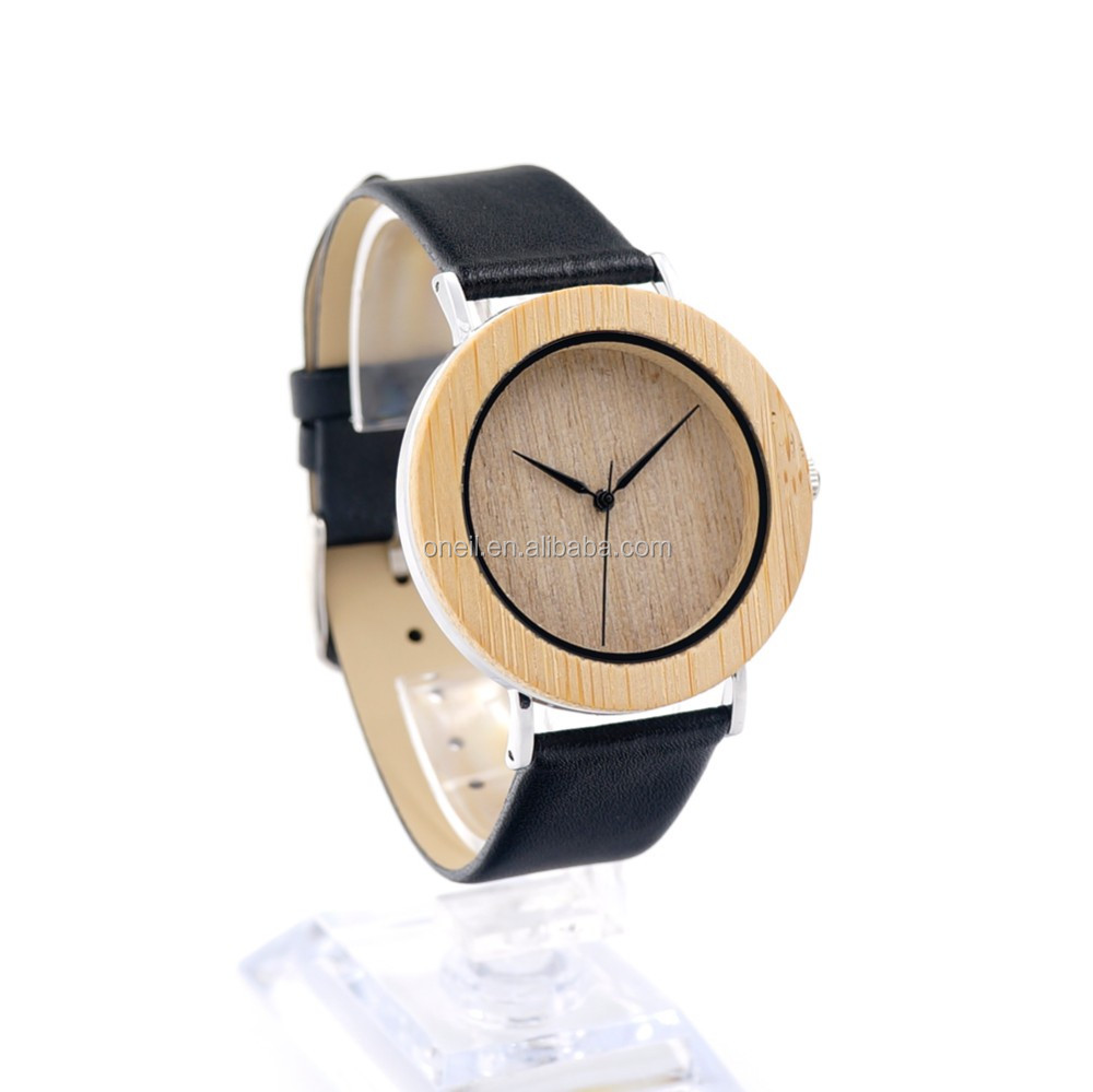 Eco-Friendly colorful wood bamboo watches 100% natural bamboo watch