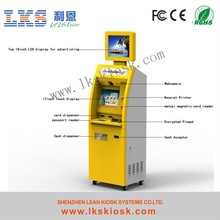 Self Service Kiosk Coin Acceptor Operated Kiosk With Printer And Cash Acceptor