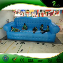 Strong PVC Blue Leisure Giant Inflatable Sofa For Advertising / Double Size Inflatable Outdoor Sofa