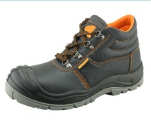Big toe action leather PU sole construction safety shoes
